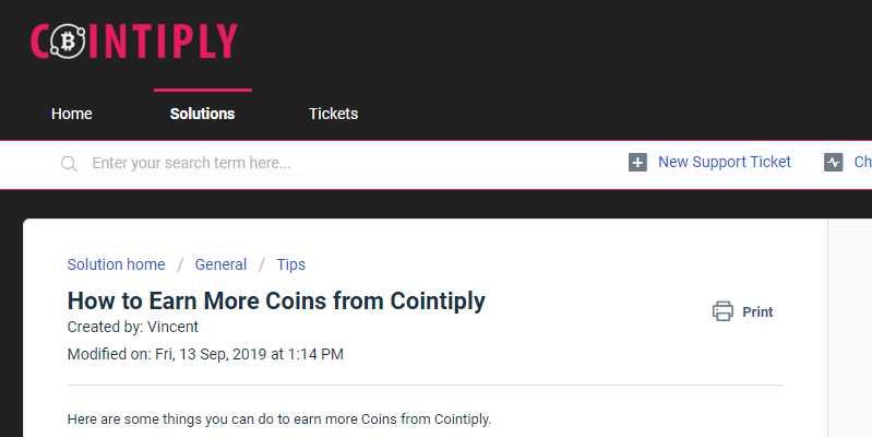cointiply faq