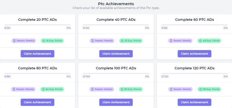 PTC Achievements at FaucetCrypto.com