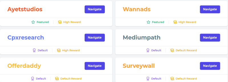 Offerwall at FaucetCrypto.com